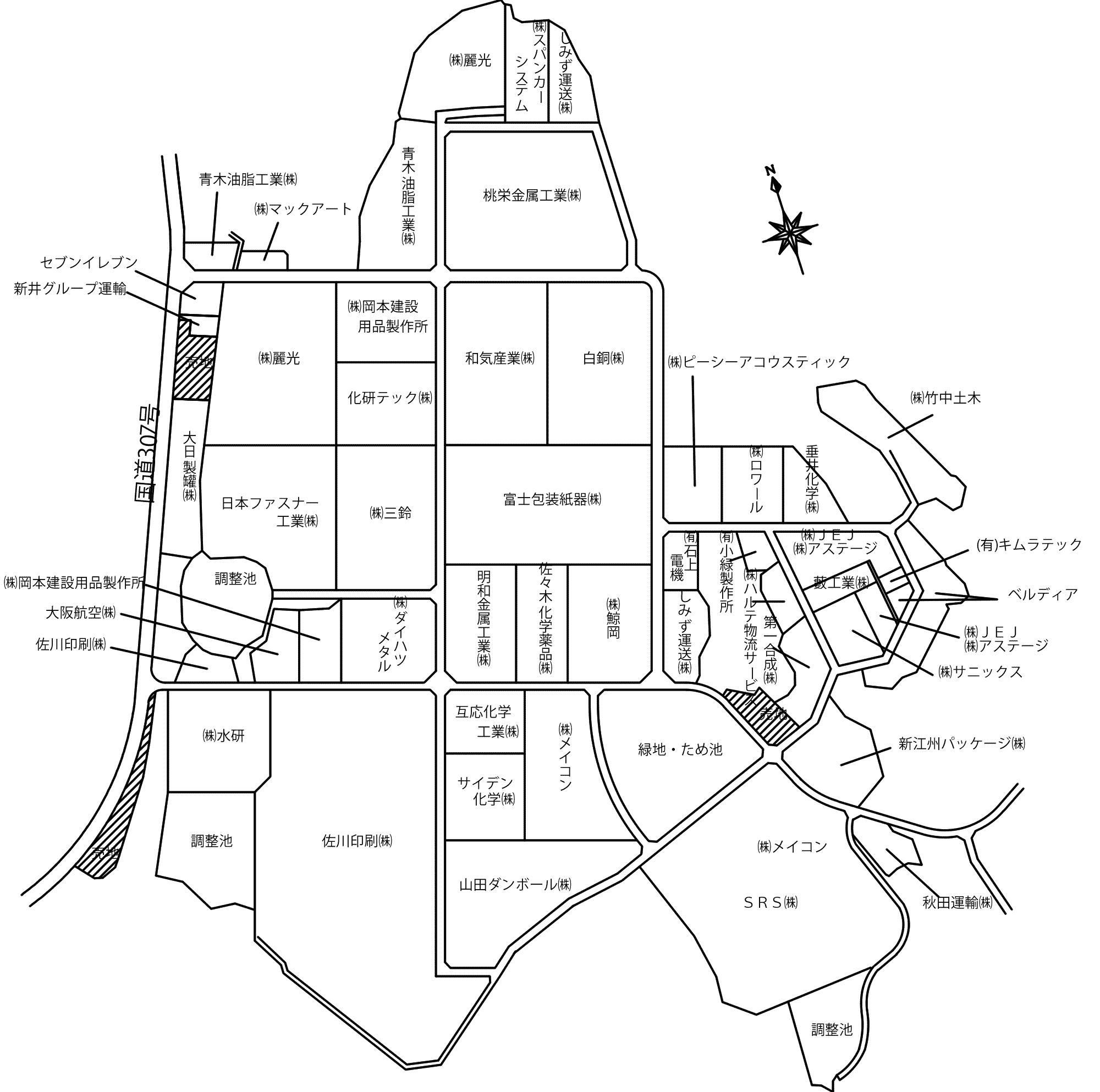 日野第二工業団地 周辺地図